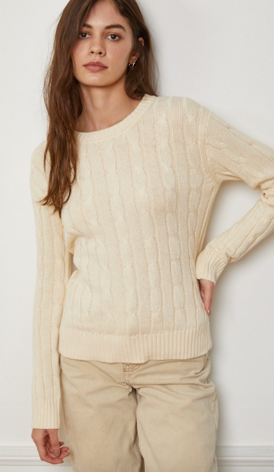 SALTY BABE THE LABEL Cabley crew sweater