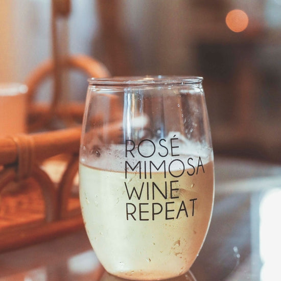 Load image into Gallery viewer, Rose Mimosa Wine Glass