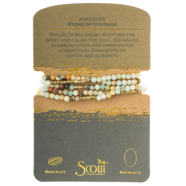 Scout Amazonite - Stone of Courage Wrap - The Salty Babe