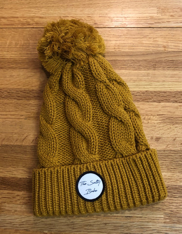 The Salty Babe cable knit pompom beanie