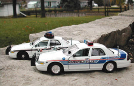 Model Police Cruiser Vehicle Waterslide Decals by Tom Brusky
