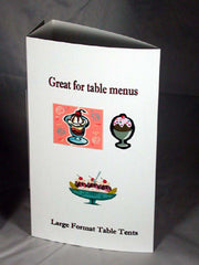 Table Tent Cards Large Format X For Inkjet Or Laser Printers - Large table tent cards