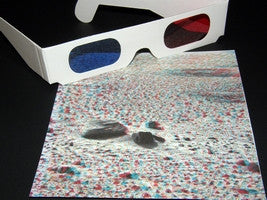 Red / Blue Viewer 3D Glasses Inkjet Laser Paper Kit