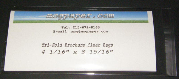Crystal Clear Bags 4 1/16 x 8 15/16