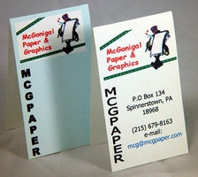 Blank Fold Over Business Cards