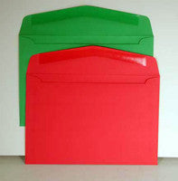 6 x 9 Holiday Red and Green Greeting Card Envelopes