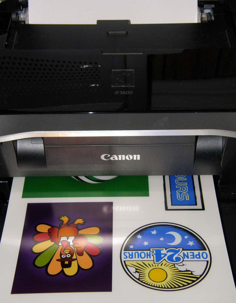 Static Cling Vinyl Window Decals For Inkjet Printers Clear