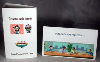 Table Tents Large Format Card Stock Blank