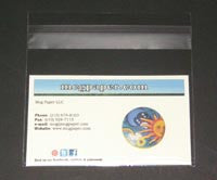 Business Card Clear Bag 3 x 2