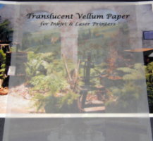 Clear Vellum Inkjet or Laser