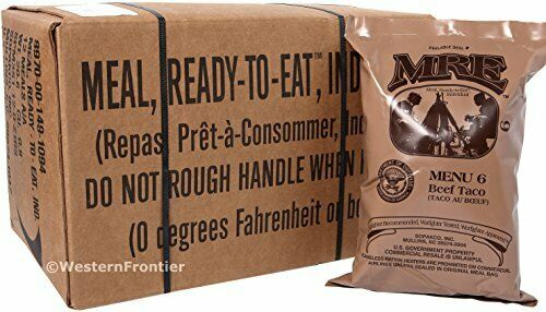 Genuine US Military MRE A or B Case (Meals Ready-To-Eat) Heaters Are Includ - Ration Packs