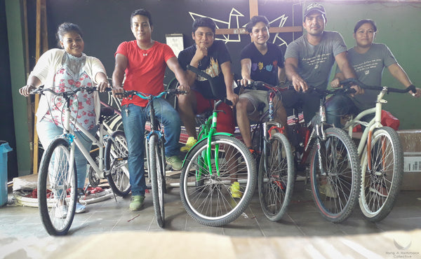 the HAHC team with their bicycles