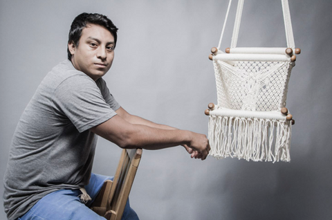 Artisan Bismark and a macrame swing chair - hang a hammock collective