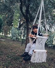 baby swing chair in the backyard - outdoor