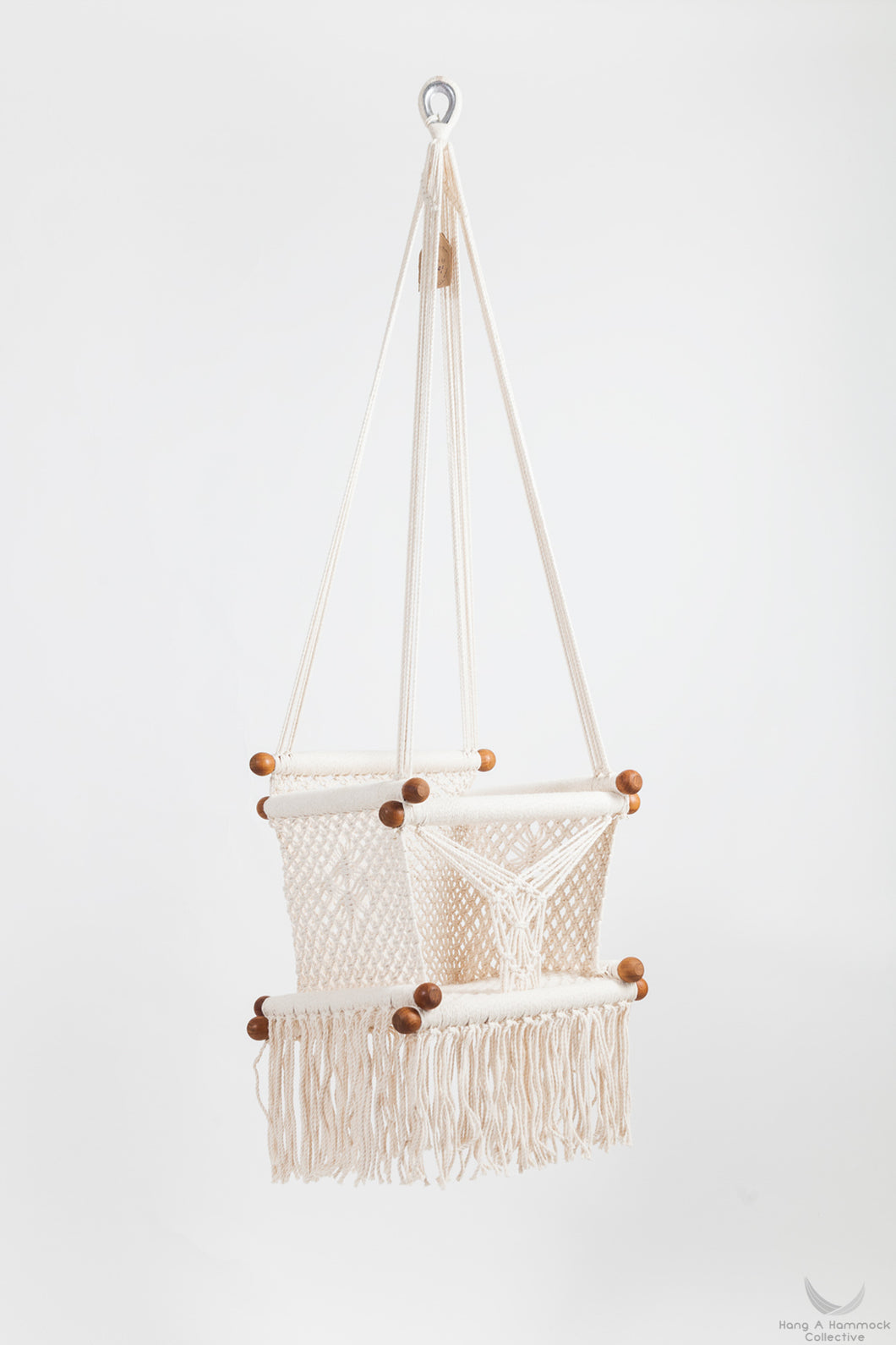 Natural Timber & Cotton Baby Swing Chair. - MADE TO ORDER