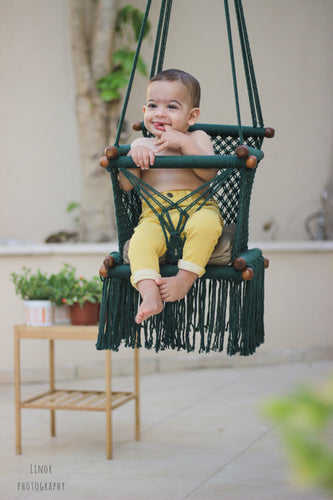 Baby Swing Chair in Dark Green (made on order)