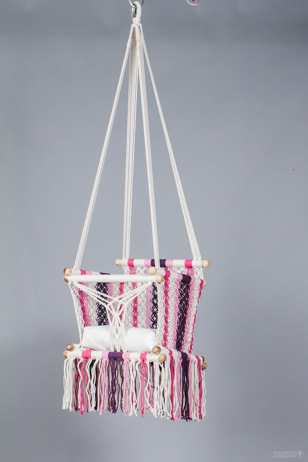 Baby Swing Chair in different pinks and cream / light wood (made on order)