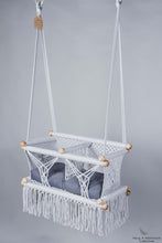 Twins Baby Chair - GREY AND BLUE CUSHIONS