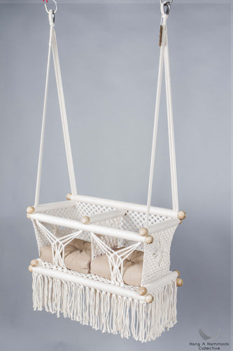 Twins Baby Chair - CREAM AND KHAKI CUSHIONS