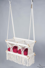 Twins Baby Chair - CREAM AND RED CUSHIONS