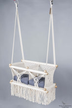 Twins Baby Chair - CREAM AND BLUE CUSHIONS