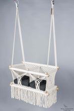 Twins Baby Chair - CREAM AND BLACK CUSHIONS