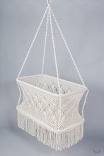 More Hanging Cribs in Macrame - Wicker base - Handmade in Nicaragua (MADE ON ORDER)