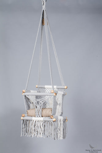 [hammocks and baby hanging chairs in macrame] - hangahammockcollective