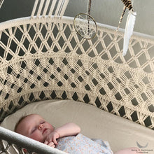 Hanging Crib in Macrame - Plywood Base - Handmade in Nicaragua (Limited Edition)