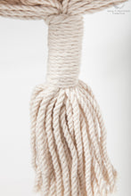 Braided Rope Swing - detail of the fringe - professional picture - white backgorund