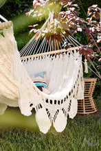 outdoor hammock in the garden