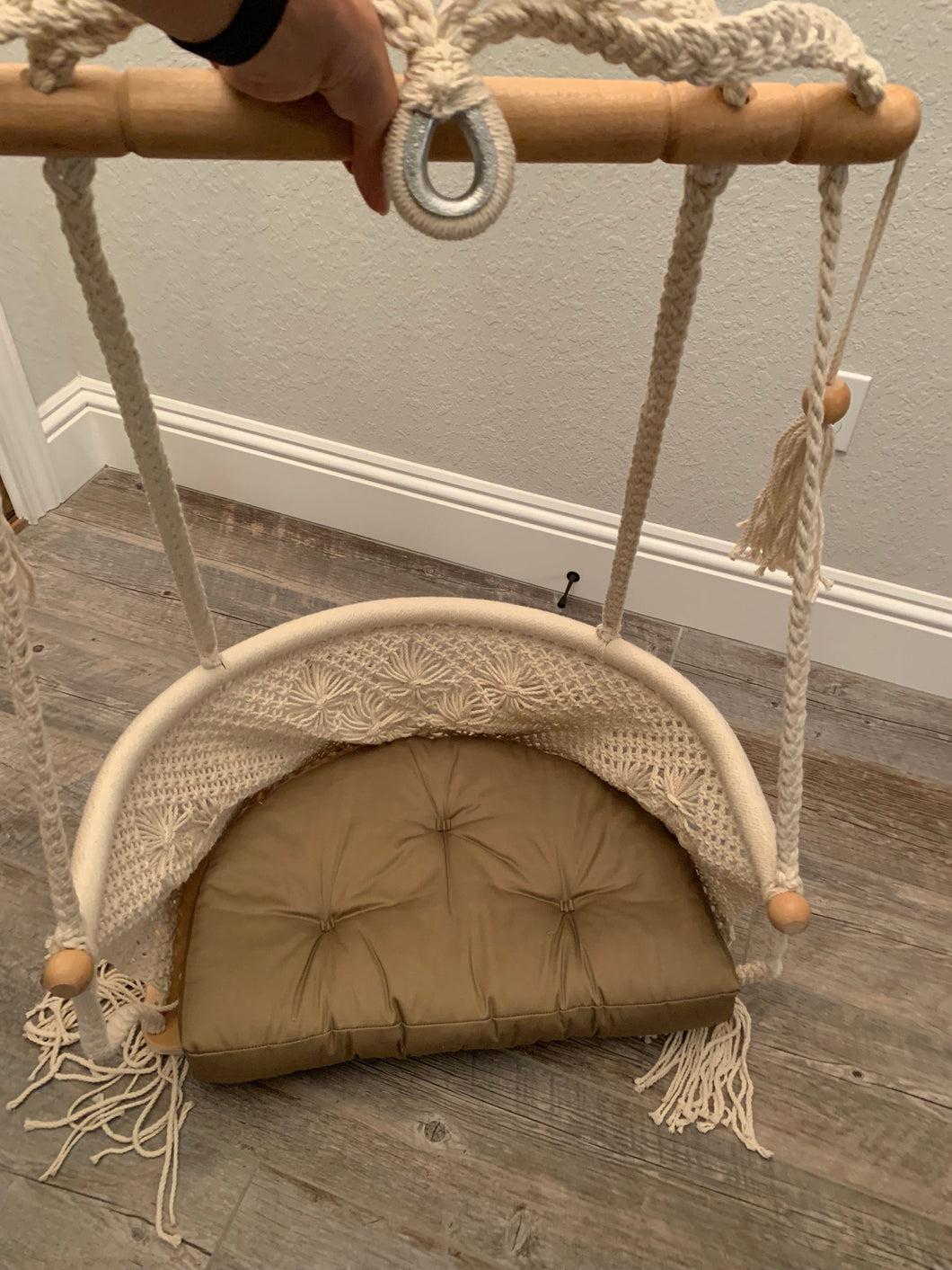 Returned Macrame Chair (include the handmade cushion and shipping)