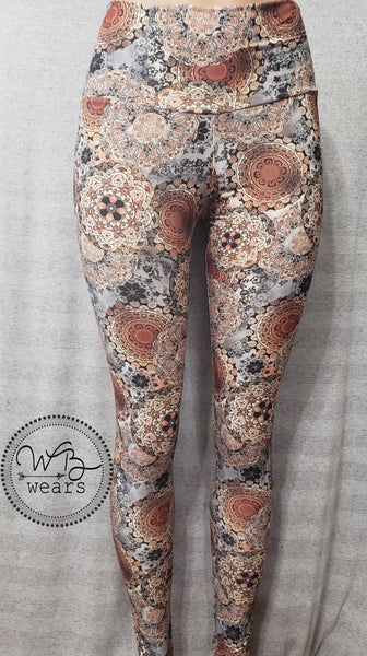 Rust medallion leggings - WB Wears