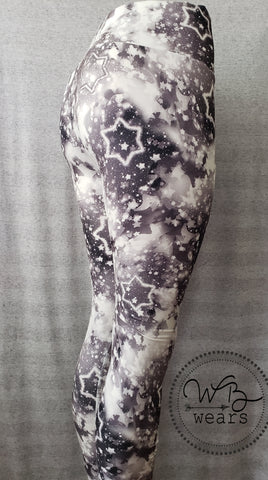 Black and white galaxy leggings - WB Wears