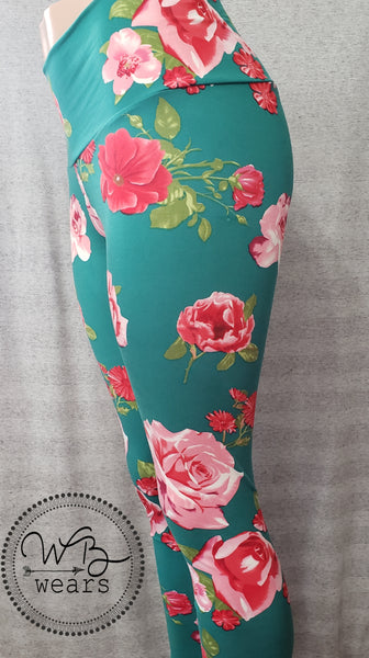 Jade roses leggings - WB Wears