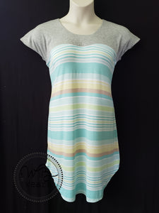 Striped Tee shirt Dress - WB Wears