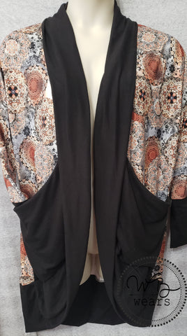 Medallion cocoon cardigan - WB Wears