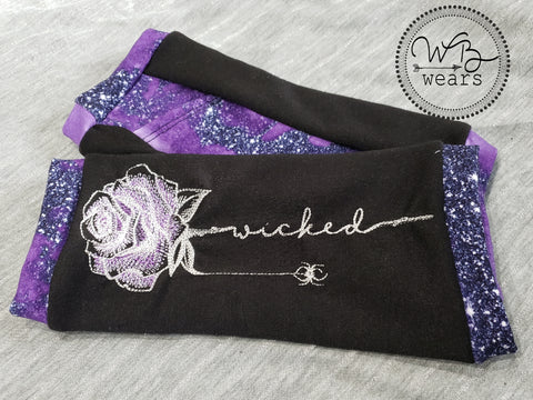 Wicked Embroidered Fingerless gloves - WB Wears