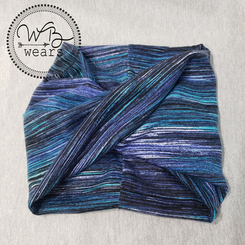 Purple space stripe headwrap - WB Wears
