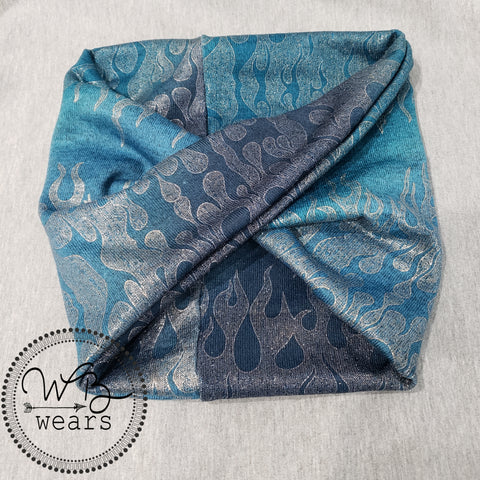 Blue Flame headwrap - WB Wears