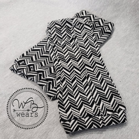 Chevron fingerless gloves - WB Wears
