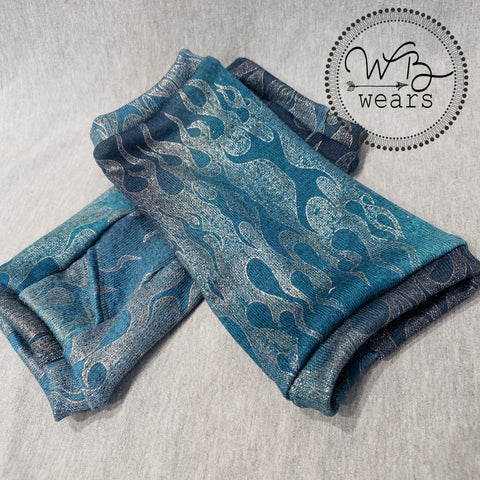 Blue Flame Fingerless Gloves - WB Wears