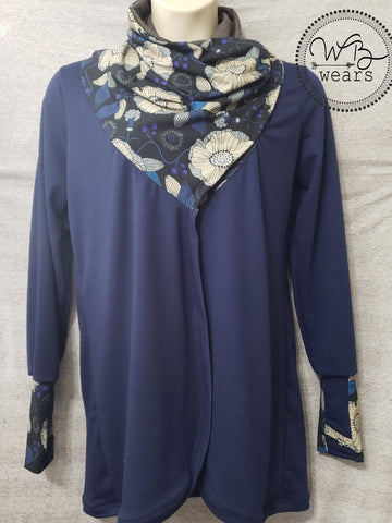 Scarf Neck Cardigan Size XL - WB Wears