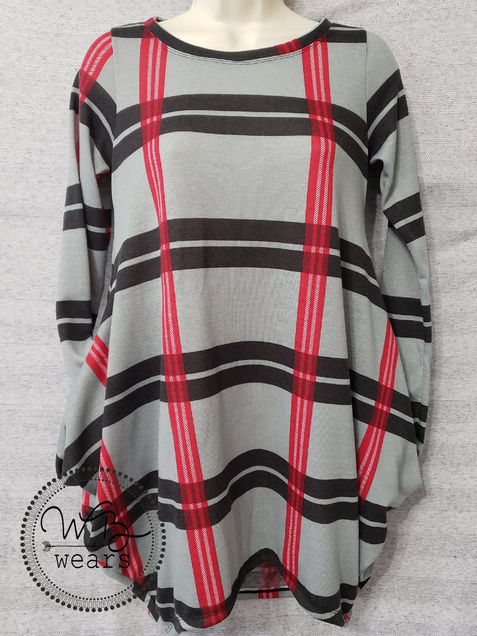 Plaid baggy pocket tunic ~ Small - WB Wears