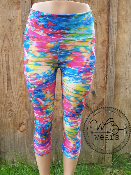 Athletic Leggings Neon Smear - WB Wears
