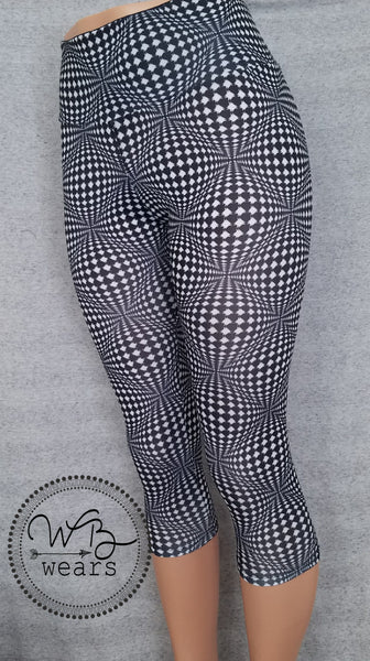 Athletic Leggings Psychadelic Houndstooth - WB Wears