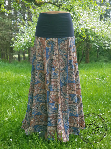 Gored Boho Maxi Skirt *OOAK* - WB Wears