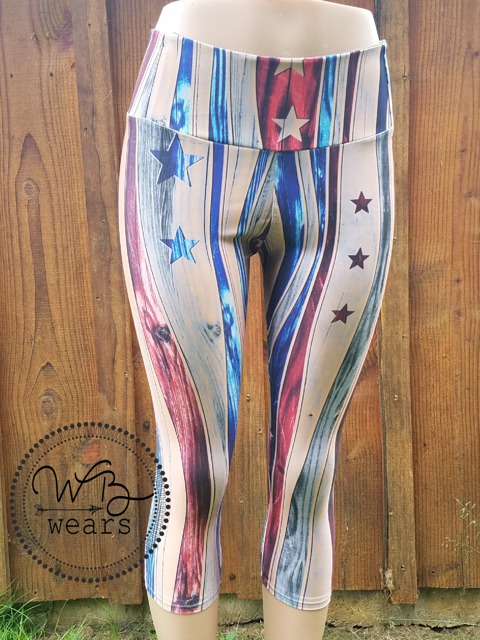 Rustic Americana Athletic Leggings - WB Wears