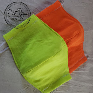 Hi Vis Cloth Face Masks with 10 filters