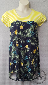 Lemon tshirt dress